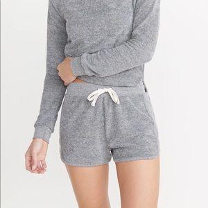 Marine layers grey cotton sweat shorts